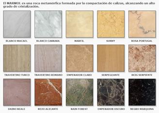 Chimeneas granito y marmol modelos cl sicos for Diferentes tipos de marmol