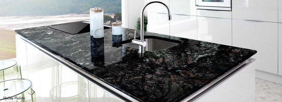 Galer a fotogr fica de encimeras de granito 1 for Granitos y marmoles cocinas